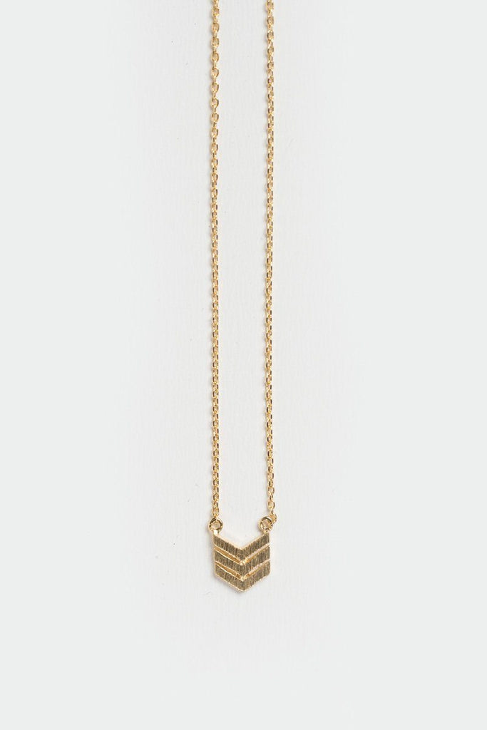 Serena Chevron Gold Dainty Necklace