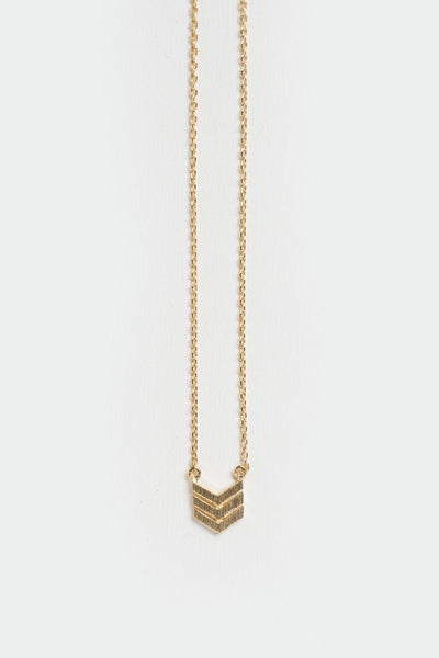 Serena Chevron Gold Dainty Necklace Necklaces FAME