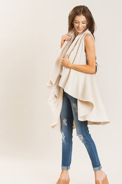 Priscilla Sleeveless Shawl Shawls Joia Cream One Size