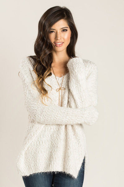 Liv Eyelash Knit Sweater Sweaters Dreamers Ivory X-Small/Small