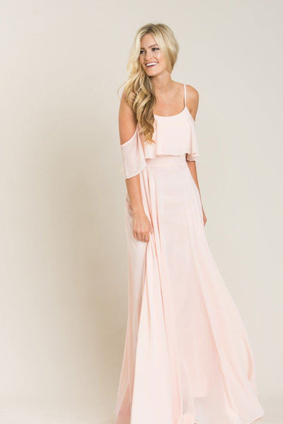 Petite Adele Ruffle Maxi Dress Dresses INA Blush XSP