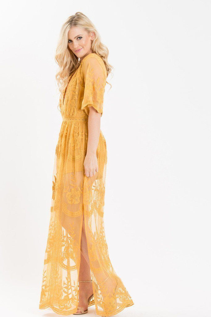 Mila Lace Maxi Jumpsuit Dresses Honey Punch
