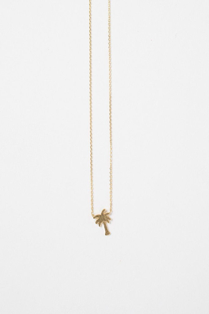 Savannah Palm Tree Dainty Gold Necklace Necklaces Morning Lavender