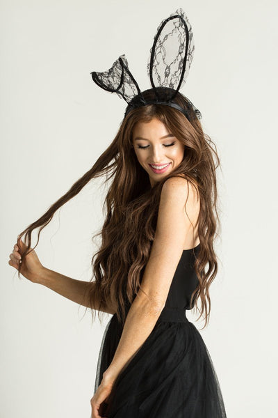 Betty Halloween Lace Bunny Ears Headbands Accessories