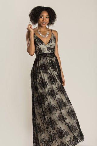 Shayla Black Lace Maxi Dress