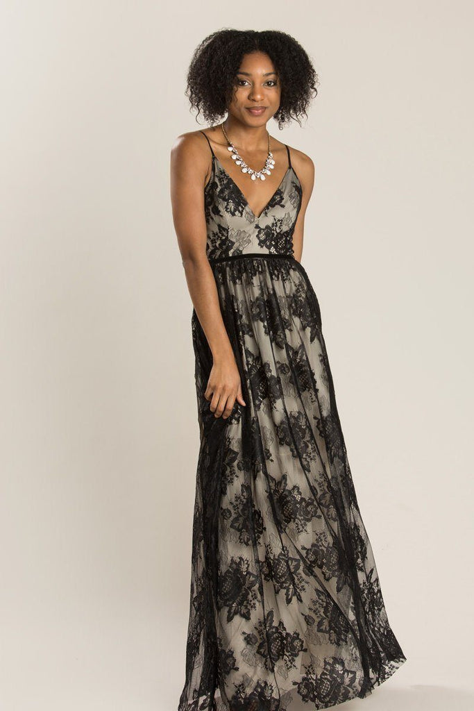 Shayla Black Lace Maxi Dress Dresses Maniju