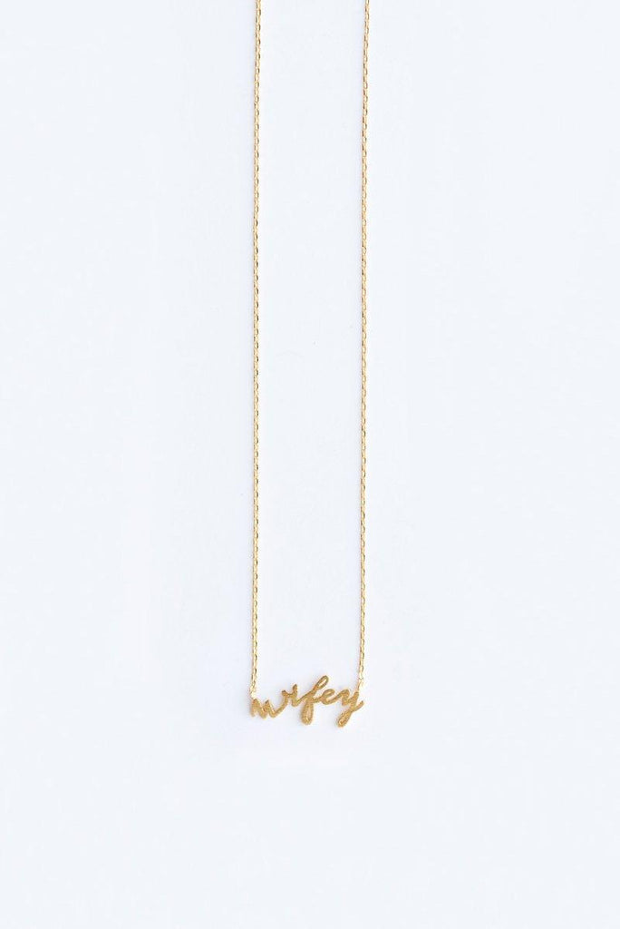 Avery Wifey Dainty Gold Necklace Necklaces Morning Lavender