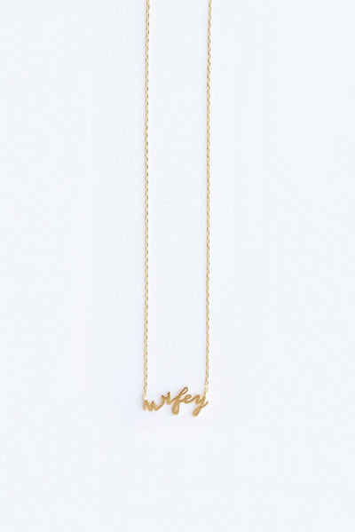 Avery Wifey Dainty Gold Necklace Necklaces Other