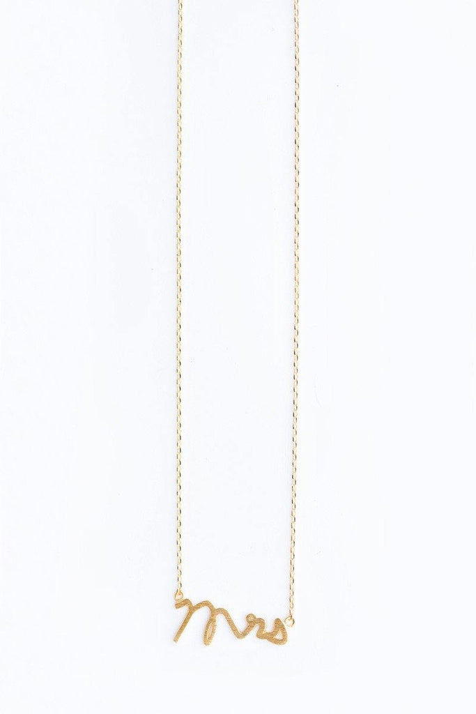 Mila Mrs. Dainty Gold Necklace