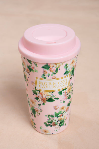 Morning Lavender Reusable Floral Cup Marketplace Morning Lavender