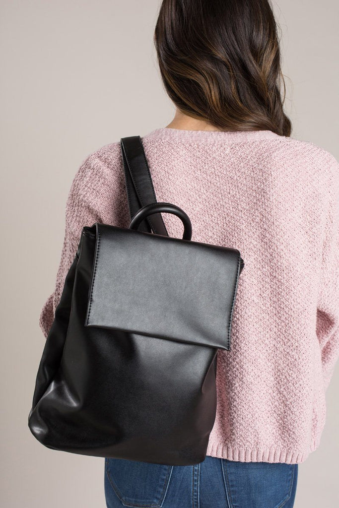 Gia Black Slouchy Backpack
