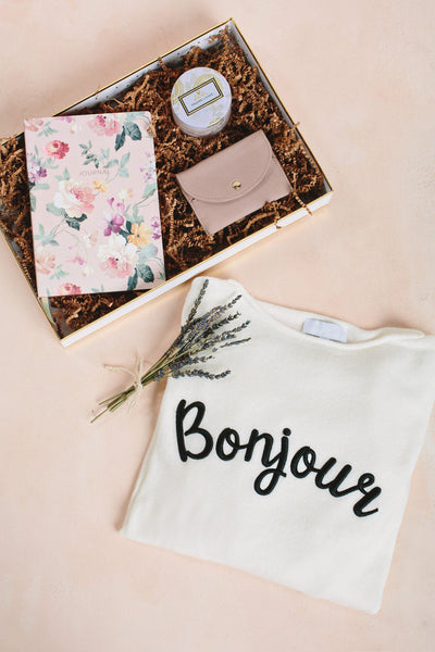 Bonjour Babe Curated Gift Box Curated Gift Boxes Morning Lavender