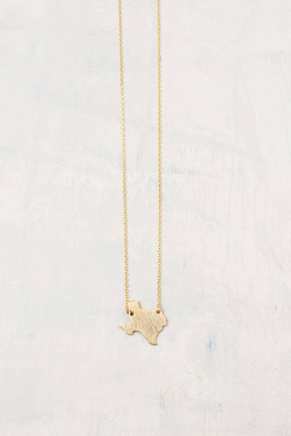 Abigail Texas Dainty Gold Necklace