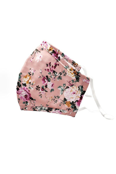 Cotton Floral Non-Medical Grade Mask Accessories icco Hot Pink