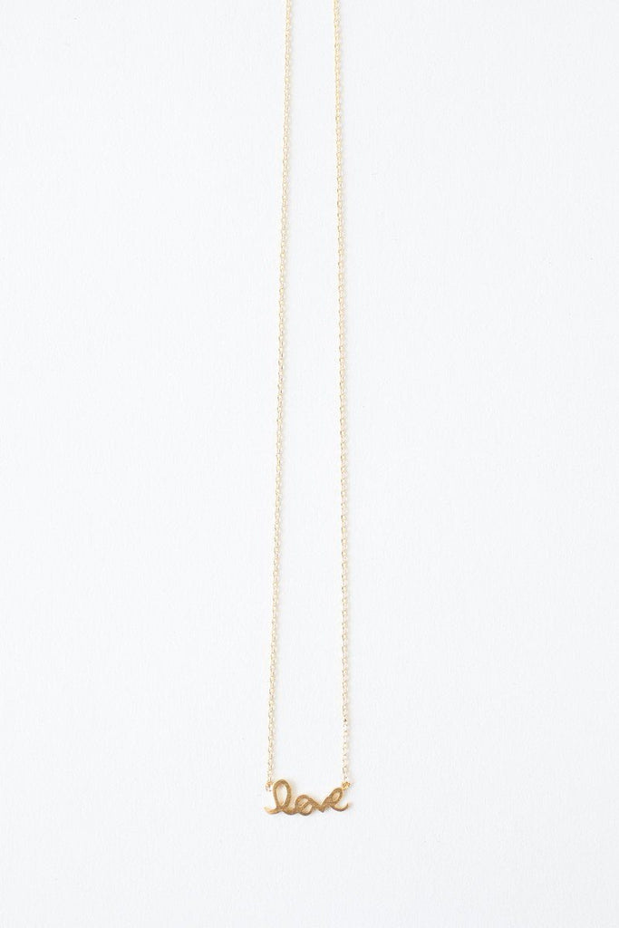 Noelle Love Dainty Gold Necklace Necklaces Morning Lavender