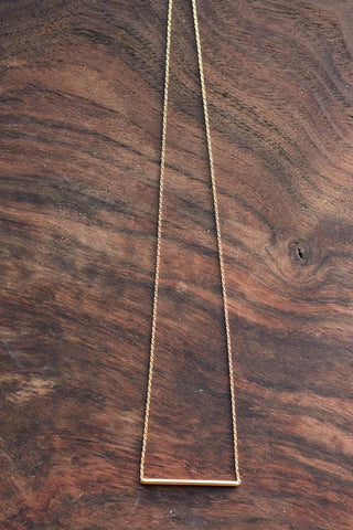 Mia Dainty Bar Gold Necklace