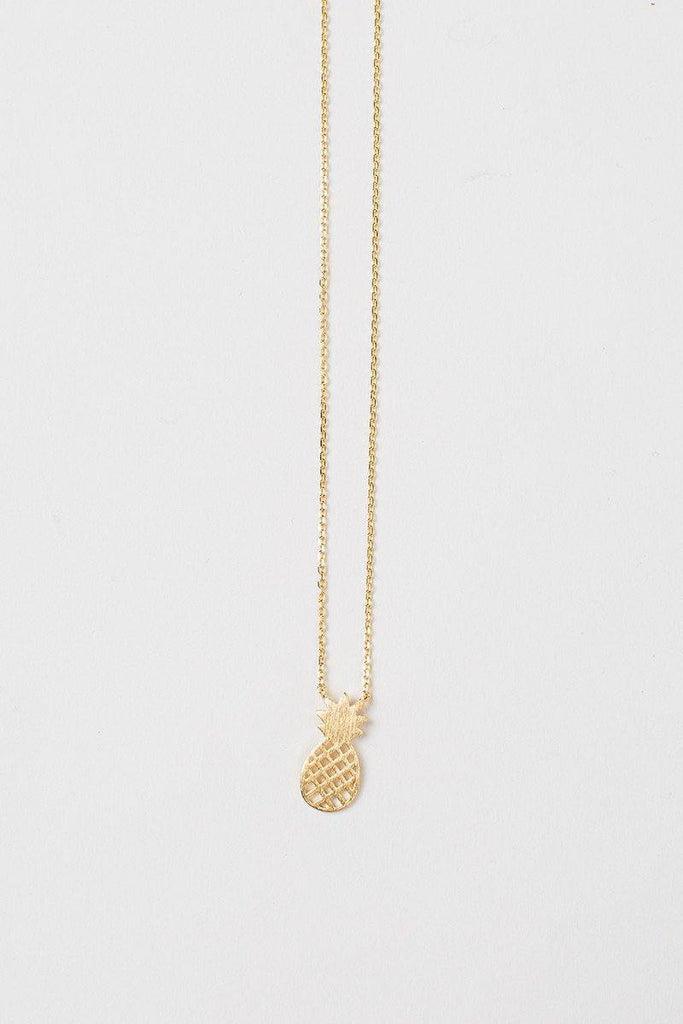 Miley Pineapple Gold Dainty Necklace Necklaces Other