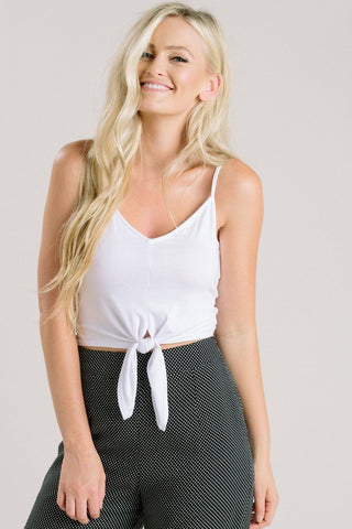 Alexis White Cropped Cami