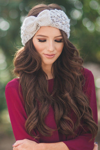 Sahara Knit Bow Headband