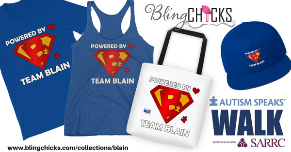 Autism Speaks - Team Blain Gear from Bling Chicks