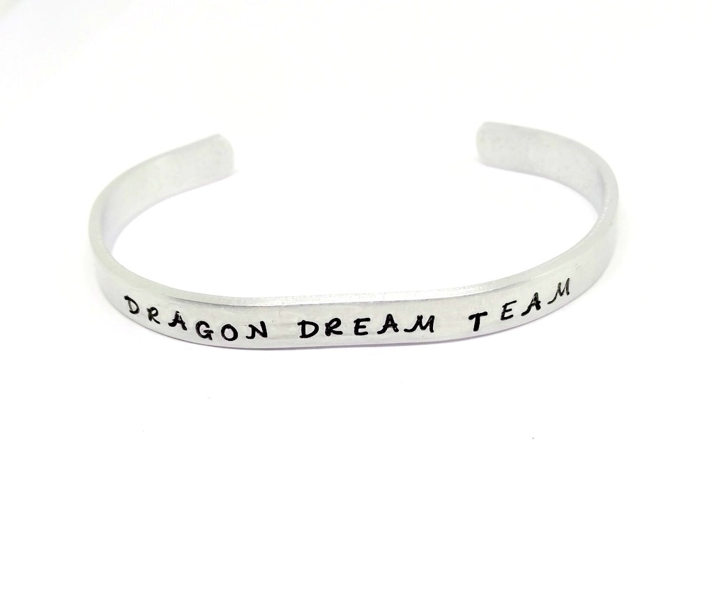 Customize  Your Dragon boat cuff bracelet, BCS Dragon boat racing team jewelry for breast cancer awareness