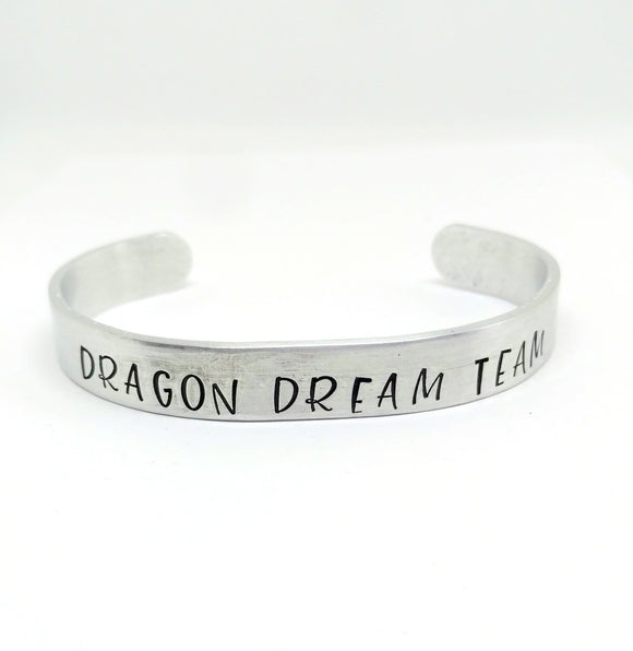 "Custom Dragon Boat Racing Team Cuff Bracelet 3/8"" by Bling Chicks - Bling Chicks Jewelry Accessories Gifts"