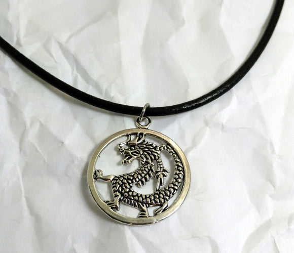 Trendy leather dragon necklace dragon boat racing team jewelry