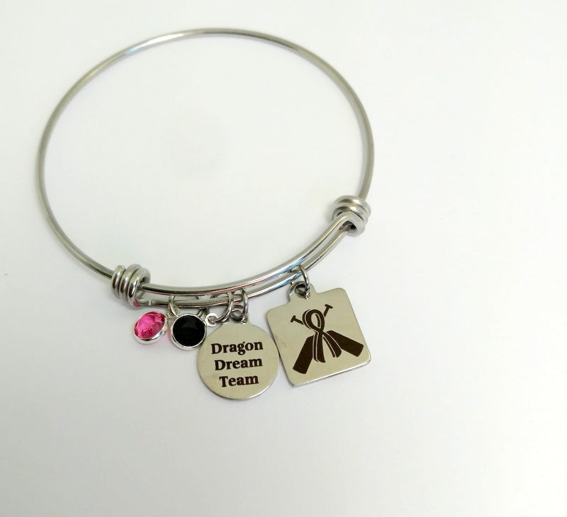 Personalized Dragon Boat Racing Team Bangle Bracelet  by Bling Chicks - D000 - Bling Chicks Jewelry Accessories Gifts
