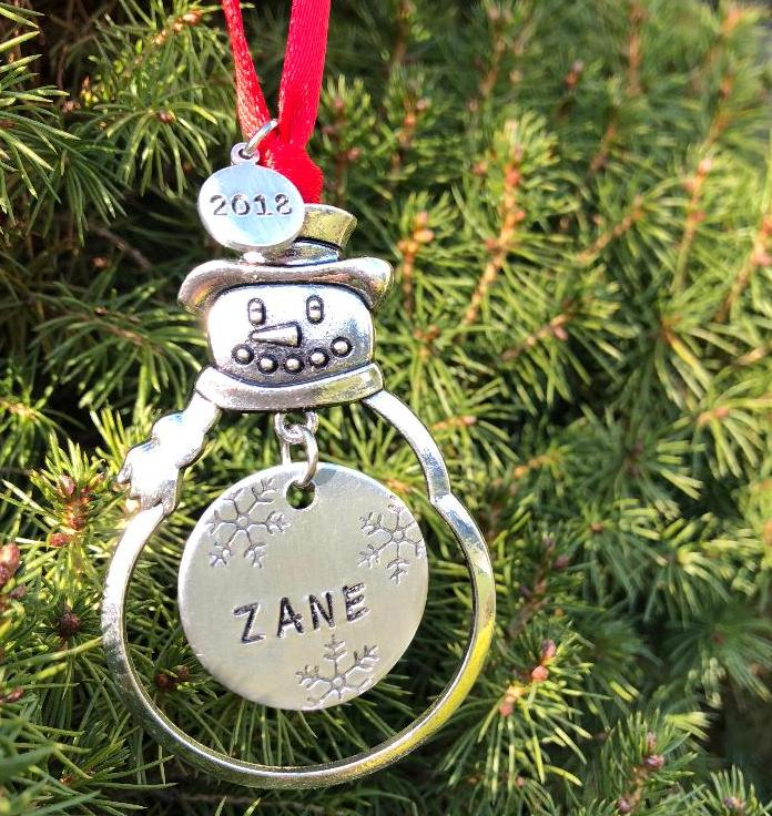 Personalized Snowman Ornament - Bling Chicks Jewelry Accessories Gifts