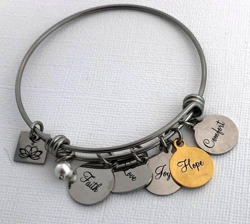 The Giving Doll STACK-ABLE CHARM BANGLE BRACELET BY BLING CHICKS - Bling Chicks Jewelry Accessories Gifts