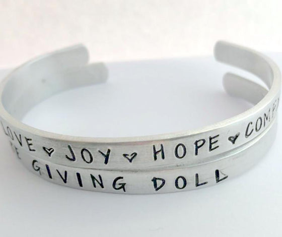 The Giving Doll - Stackable Cuff Bracelets - Set By Bling Chicks - Bling Chicks Jewelry Accessories Gifts