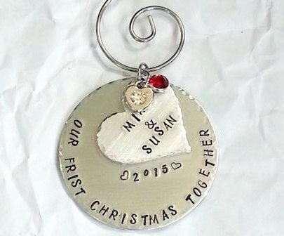 Couples First Christmas Together Ornament - Bling Chicks Jewelry Accessories Gifts