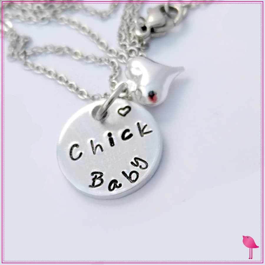Mama Chick and Chick Baby Bling Chicks Necklace Set - Bling Chicks