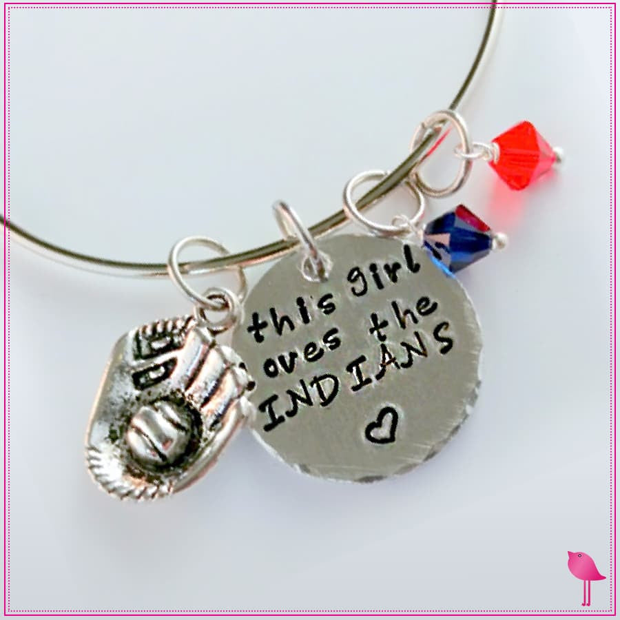 This Girl Loves Her Sports Team Bling Chicks Bangle Bracelet - Bling Chicks Jewelry Accessories Gifts