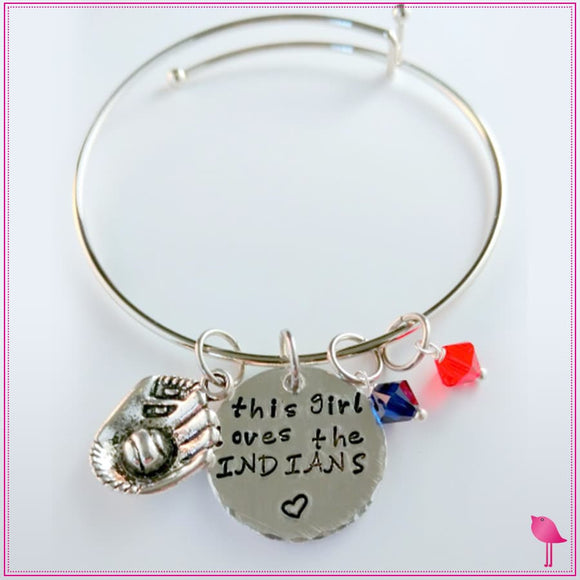This Girl Loves Her Sports Team Bling Chicks Bangle Bracelet - Bling Chicks