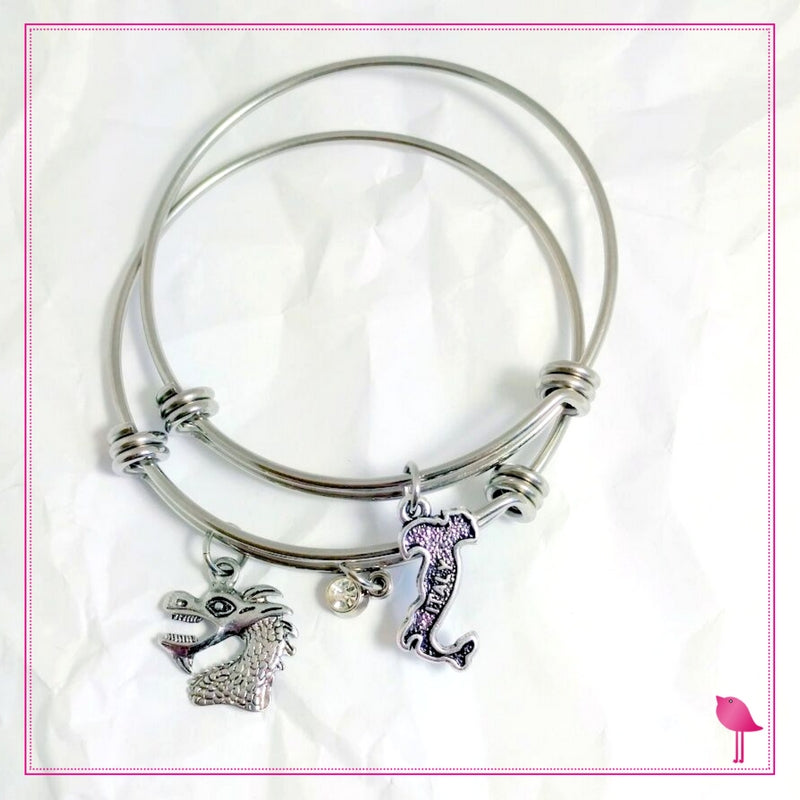 Dragon Boat Racing Team Bangle Bracelet Set by Bling Chicks D017 - Bling Chicks Jewelry Accessories Gifts
