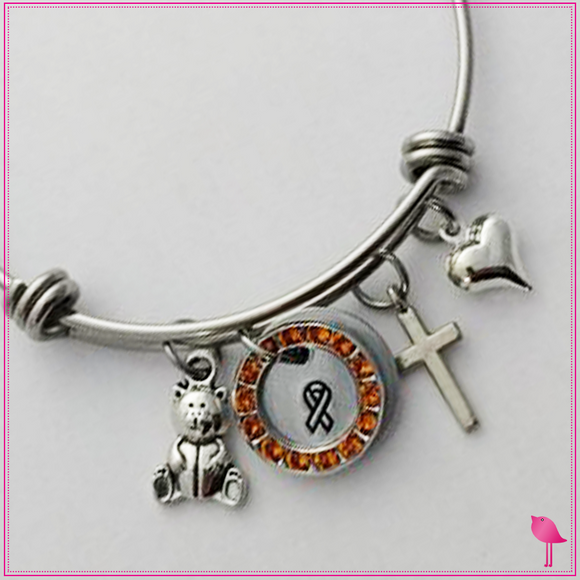 Ed Bear Stack-able charm Bangle Bracelet by Bling Chicks - Bling Chicks Jewelry Accessories Gifts