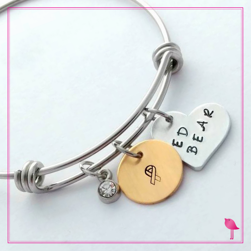 Ed Bear Stack-able bracelet with Nu Gold charm by Bling Chicks