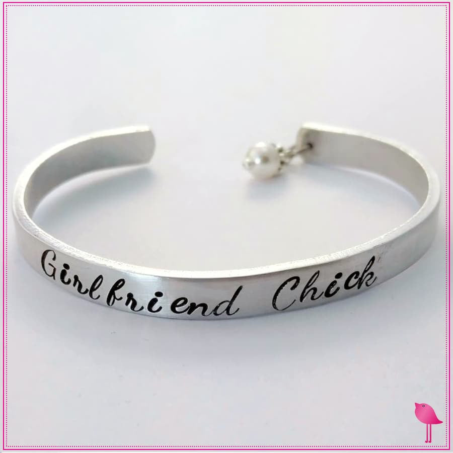 Girlfriend Chick Bling Chicks Cuff Bracelet
