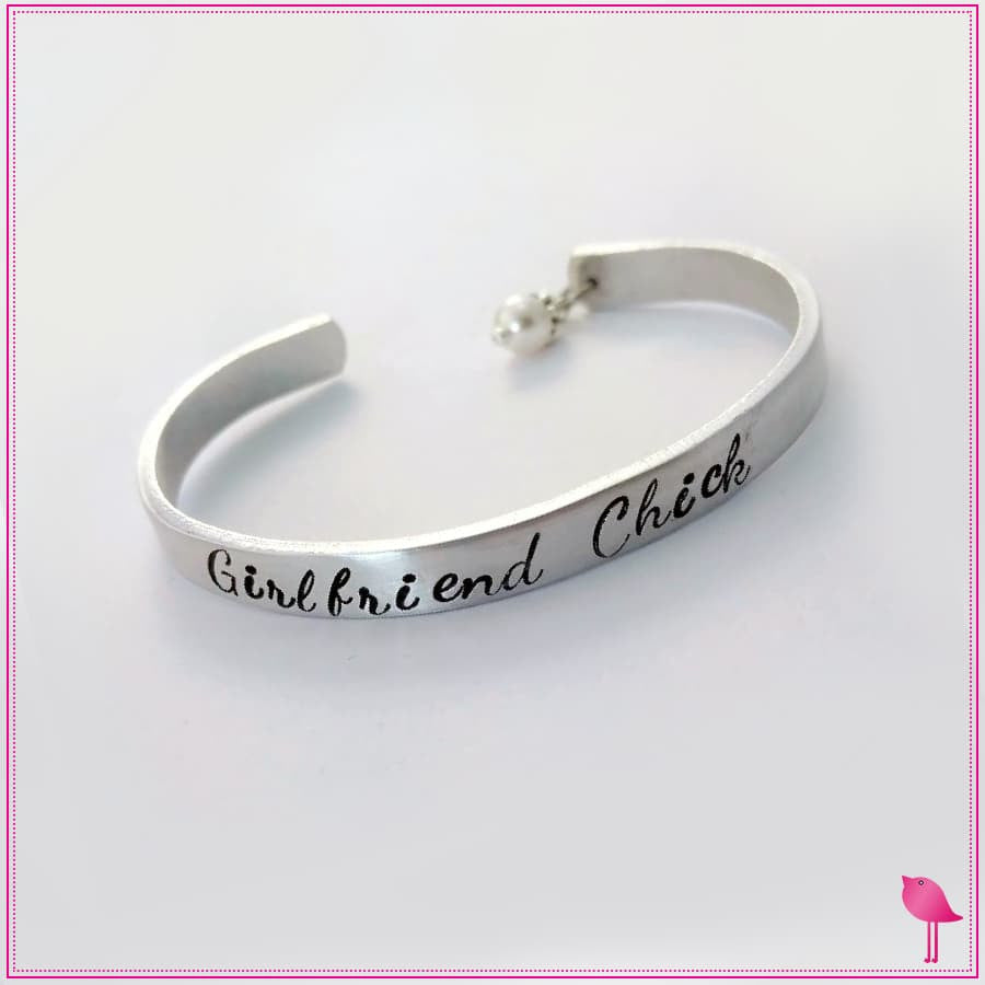 Girlfriend Chick Bling Chicks Cuff Bracelet 2