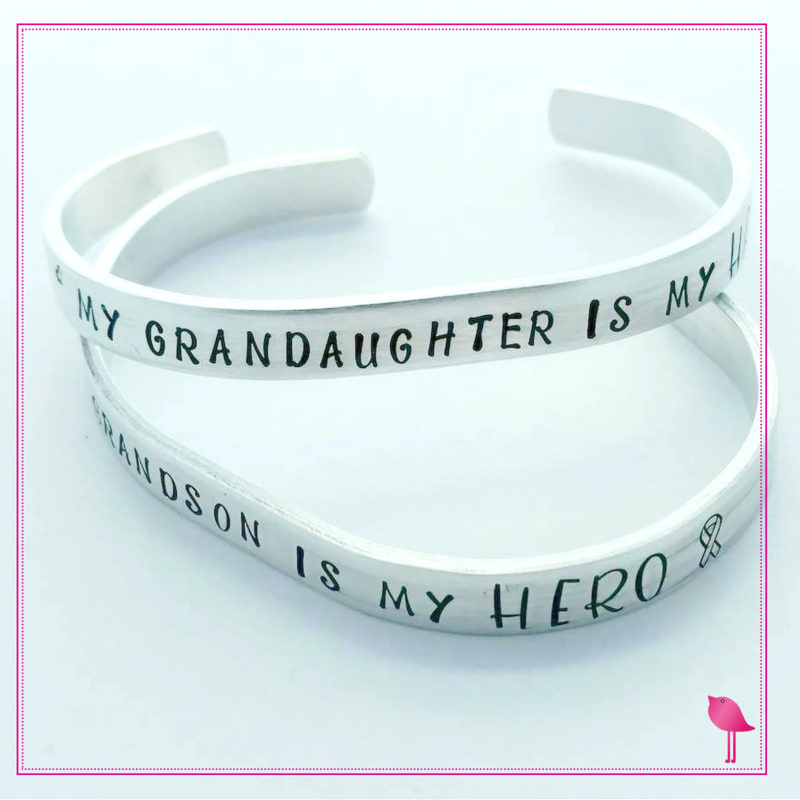 Childhood Cancer Awareness Cuff My SON is my HERO Bracelet by Bling Chicks - Bling Chicks Jewelry Accessories Gifts