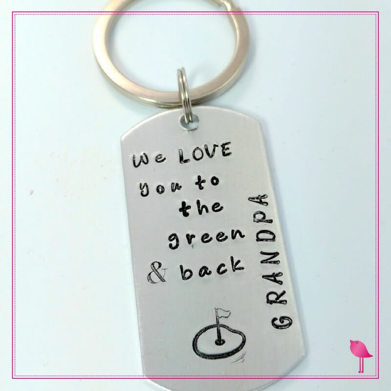 Grandpa Golf Key Chain Love You To The Green By Bling Chicks