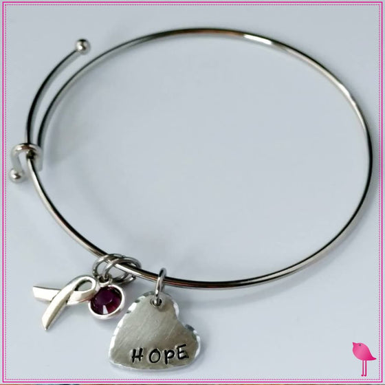 HOPE Awareness Bling Chicks Expandable Bracelet - Bling Chicks Jewelry Accessories Gifts