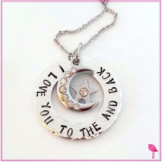 I Love You to the Moon and Back Bling Chicks Charm Necklace - Bling Chicks