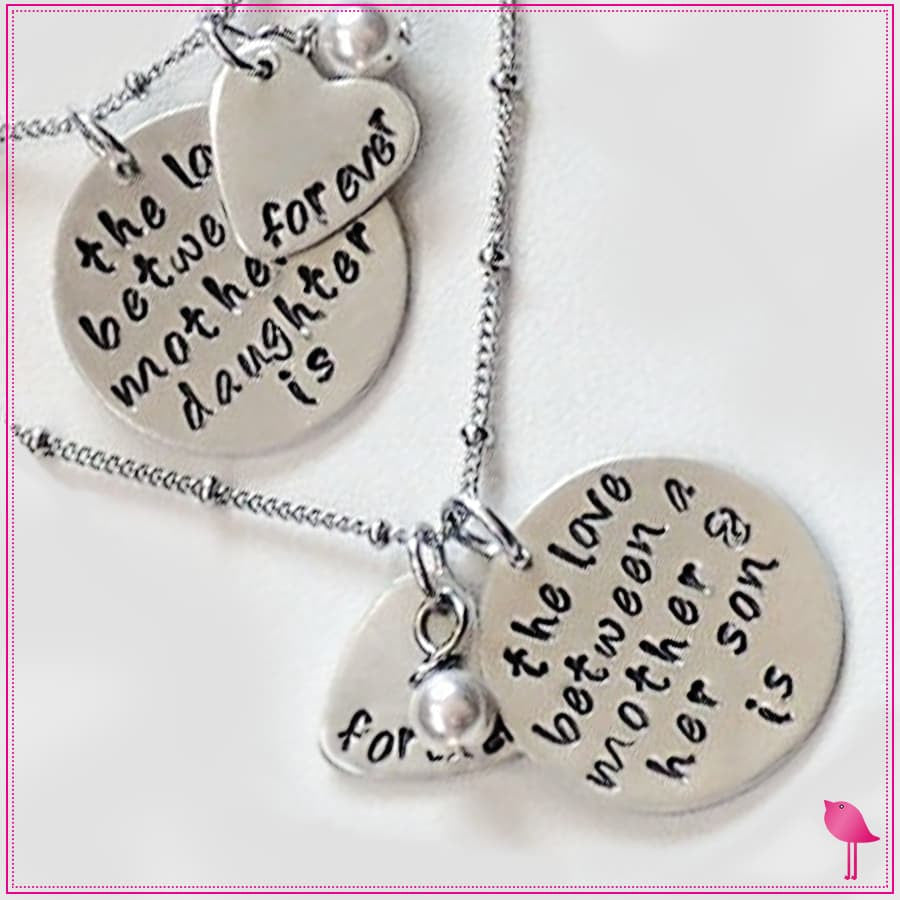 The Love Between a Mother & Daughter/Son is Forever Bling Chicks Necklace - Bling Chicks