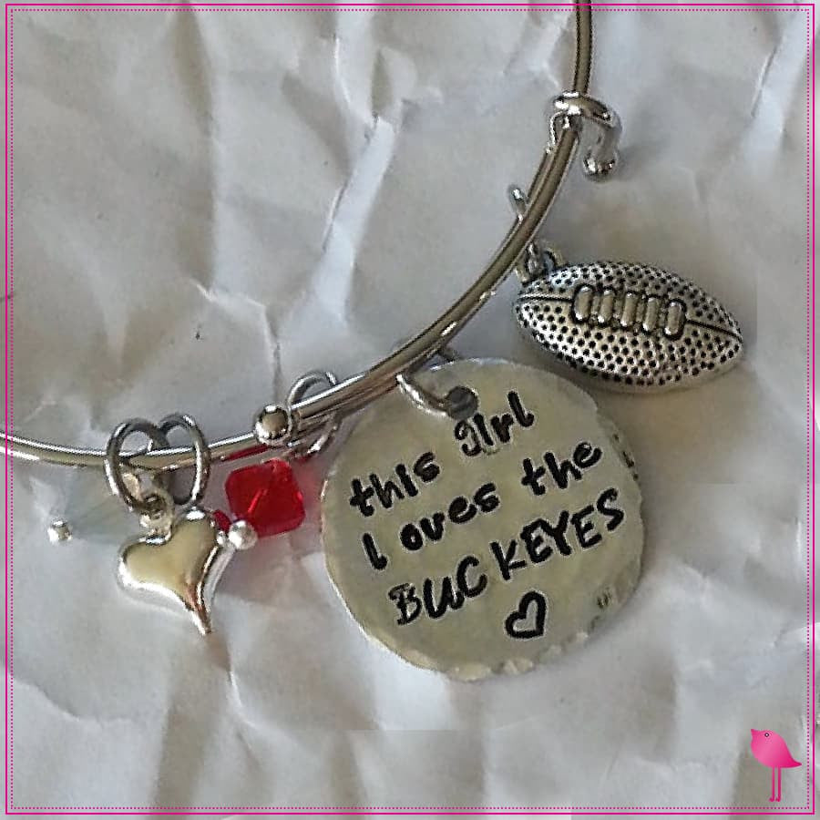 College Sports Team Bling Chicks Bangle Bracelet - Bling Chicks Jewelry Accessories Gifts