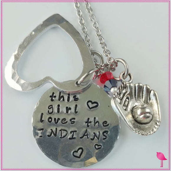This Girl Loves Her Sports Team Bling Chicks Necklace - Bling Chicks Jewelry Accessories Gifts