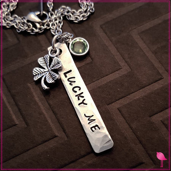 Lucky Me Bling Chicks Necklace with Crystal Charm - Bling Chicks Jewelry Accessories Gifts