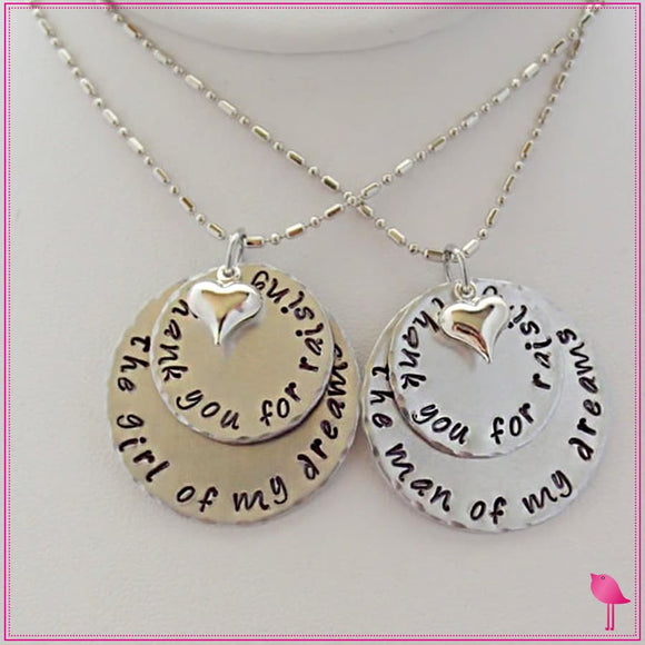 girl of my dreams or man of my dreams bling chicks necklace