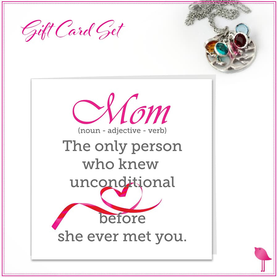 MOM Birthstone Jewelry Bling Chicks Gift Card Set - Bling Chicks Jewelry Accessories Gifts
